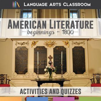 American Literature Beginnings to 1800