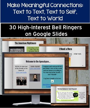 American Literature Bell Ringers and Extended Response Activities