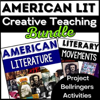 American Literature Bundle: American Lit Bell Ringers, Activities, Project