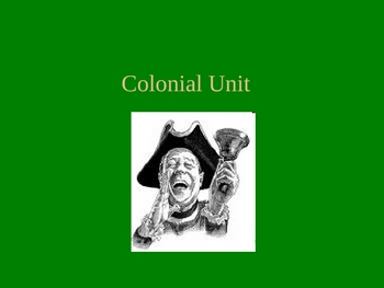 American Literature: Colonial Era - powerpoint