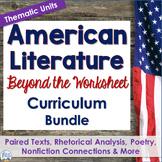 American Literature Curriculum Activity and Lesson Bundle