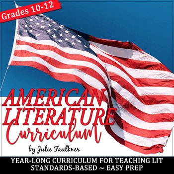 American Literature Curriculum, Year-Long Curriculum, BUNDLE+, Distance Learning