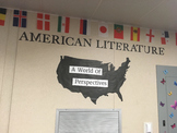 American Literature ELA English Language Arts Classroom Bulliten Board Idea Easy