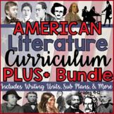 American Literature Full Year/Semester Plus Writing & More BUNDLE