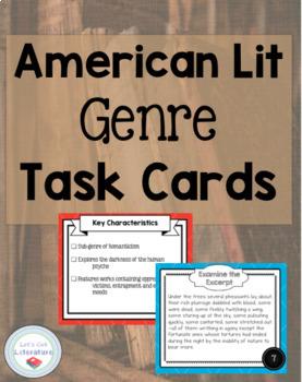 American Literature Genre Task Cards