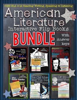 AMERICAN LITERATURE GUIDES FLIP BOOKS BUNDLE