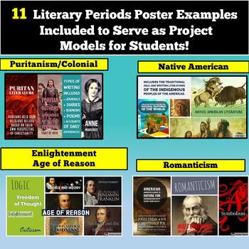 American Literature Literary Periods Digital Poster Project