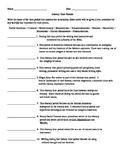 American Literature Literary Time Periods Quiz
