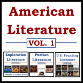 American Literature Mega Bundle: Vol. 1 - Explorers, Purit