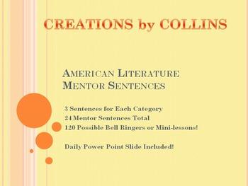 American Literature Mentor Sentences