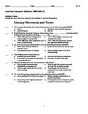 American Literature Midterm: Explorer-Romanticism- TWO ver