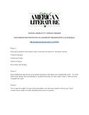 American Literature Milestones Webquest