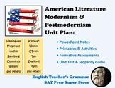 American Literature: Modernism & Postmodernism Unit