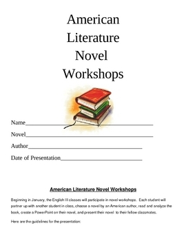 American Literature Novel Workshops Unit