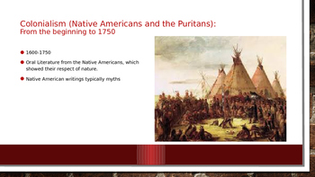American Literature Overview PPT