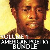 American Literature Poetry Unit: Poetry Activities, Poetry Writing, & Analysis