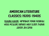 American Literature Reading Guide Bundle (1920s-1940s)