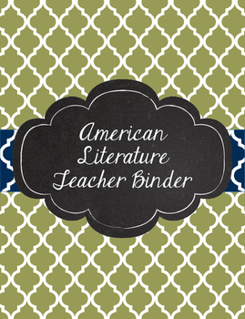 American Literature Teacher Binder