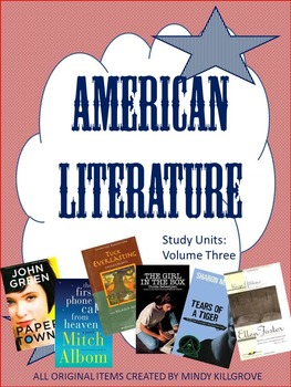 American Literature: Volume Three: A Collection of Novel Study Units