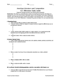 American Literature and Compostion EOC (End of Course) Study Guide