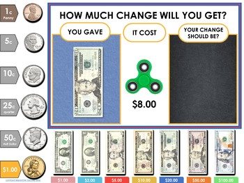 American Money Digital Interactive Resource (Google Classroom / iPad / IWB)