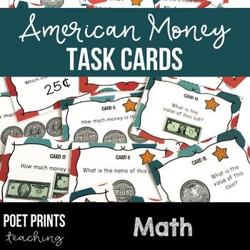 Math Center Task Cards, American Money
