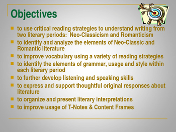 American Neoclassic Literary Movement PPT