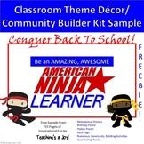 American Ninja Learner Class Theme and Activities Kit SAMP