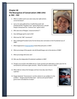 American Pagaent Reading questions chapter 40