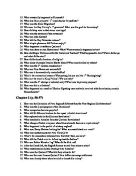 American Pageant 16th edition guided reading questions (Ch.1-40)