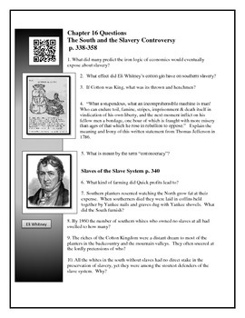 American Pageant Chapter 16 - textbook questions