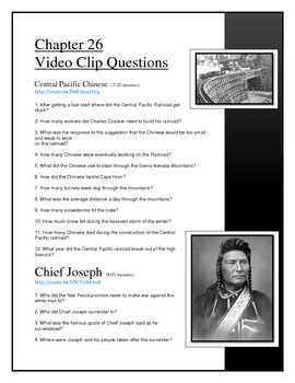 American Pageant Chapter 26 - Wild West - youtube video assignment
