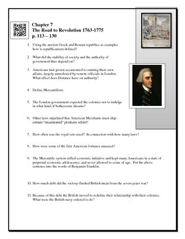 American Pageant Chapter 7 Reading questions BYOD QR code link