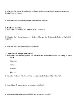 American Pageant Reading Discussion Questions