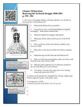 American Pageant Reading Questions Chapter 18, BYOD QR code link to youtube