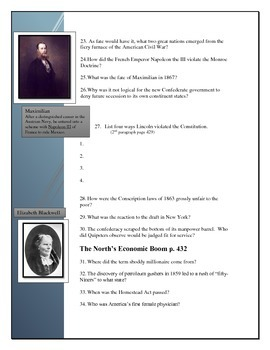 American Pageant Reading Questions Chapter 20