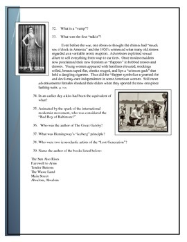 American Pageant Reading Questions chapter 31