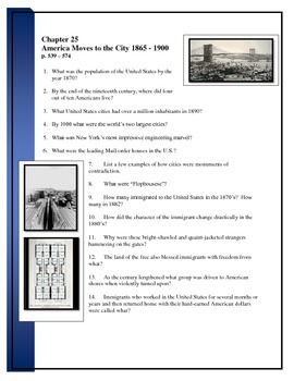 American Pageant reading questions chapter 25