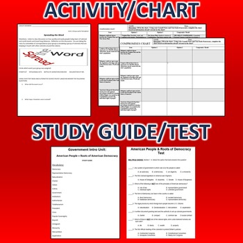 Introduction to Government Activity *Bundle*