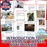 Introduction to Government Cornell Notes *Bundle*
