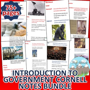 Introduction to Government Cornell Notes Bundle