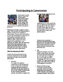 Informational Text - American Politics: Participating in Government (Sub Plans)