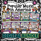 American Popular Music BUNDLE - 1920's to 1990's |Distance Learning