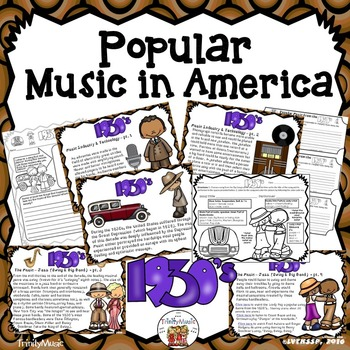 American Popular Music - The 1930's Decade
