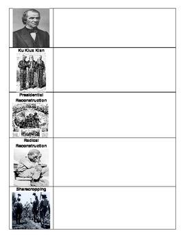 American Post-Civil War:  Reconstruction Organizer