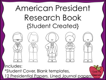American President Research Book and Writing Journals {Student Created}