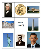 American Presidents and Symbols Bingo Game
