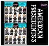 American Presidents 3 Clip Art Bundle {Educlips Clipart}