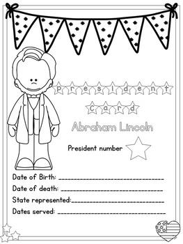 American Presidents- Abraham Lincoln Freebie