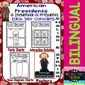 American Presidents - Bilingual Growing Bundle + Bonus Set - Posters Added